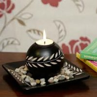 designer pot candle