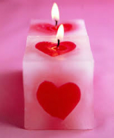 heart cube candle