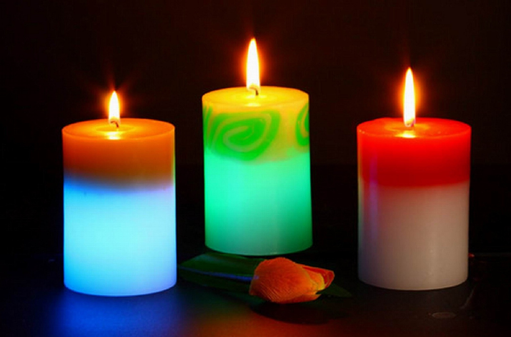 Buy best 7 day 7 color road opener candle online 3d for Candele on line